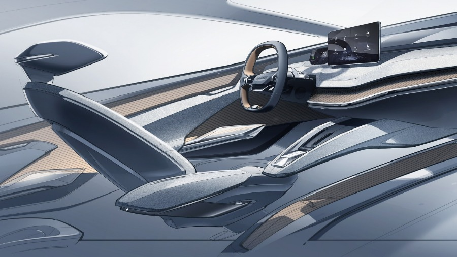 Concept study ŠKODA VISION iV features innovative interior concept