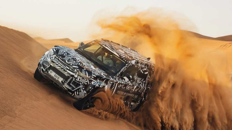 RED CROSS EXPERTS PUSH NEW LAND ROVER DEFENDER PROTOTYPE TO THE LIMIT IN DESERT TESTING TO CELEBRATE RENEWAL OF 65-YEAR PARTNERSHIP