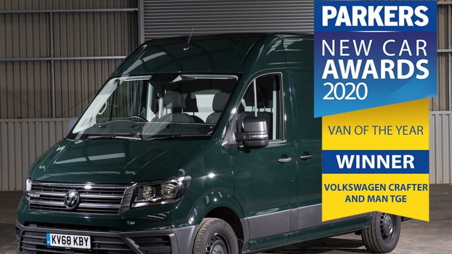Volkswagen Crafter named Best Van for third consecutive year at Parkers New Car Awards