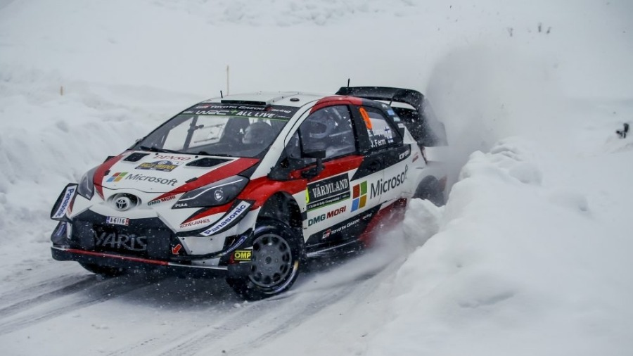 Toyota Yaris WRC on the Pace in Sweden