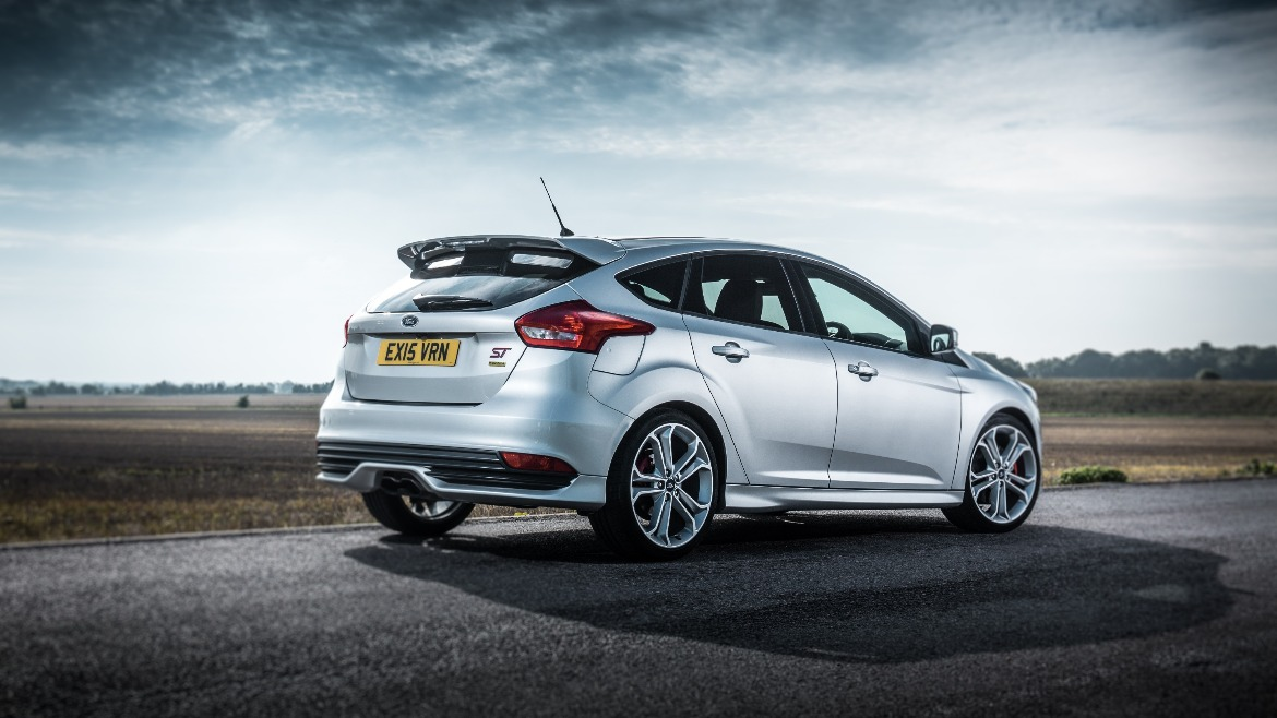 Silver Ford Focus ST Mountune 5