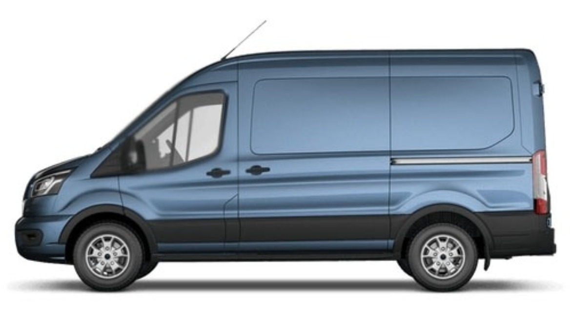 New Ford Transit in new limited Chrome Blue