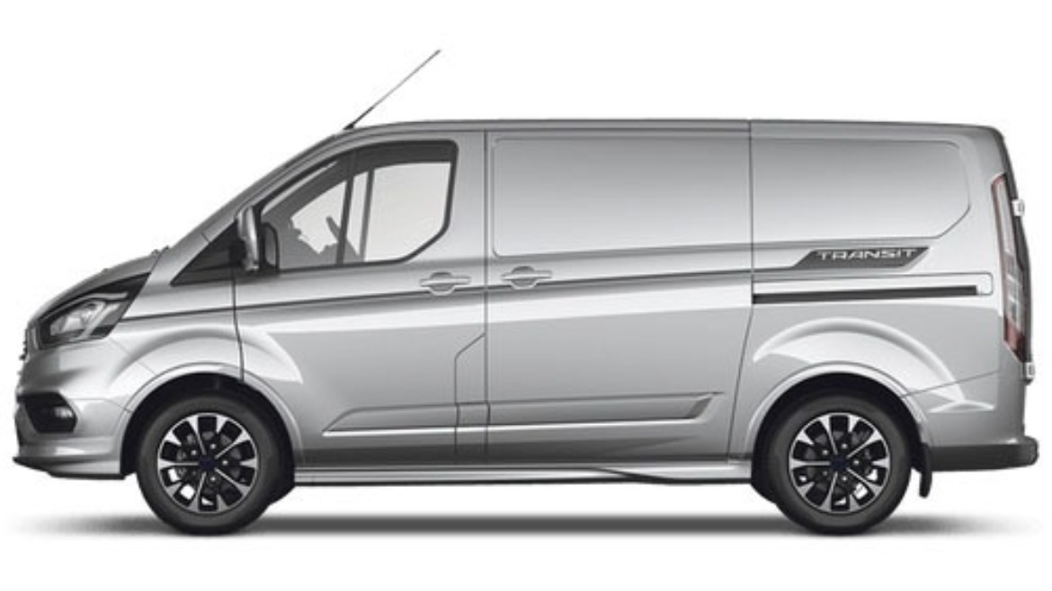 Ford Transit Custom in Moondust Silver