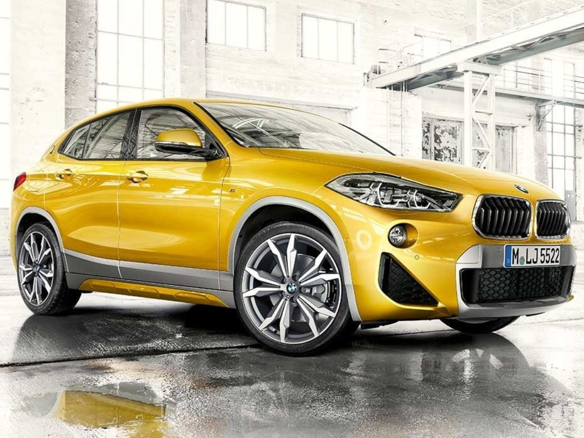 BMW X2 Motability SUV in Yellow