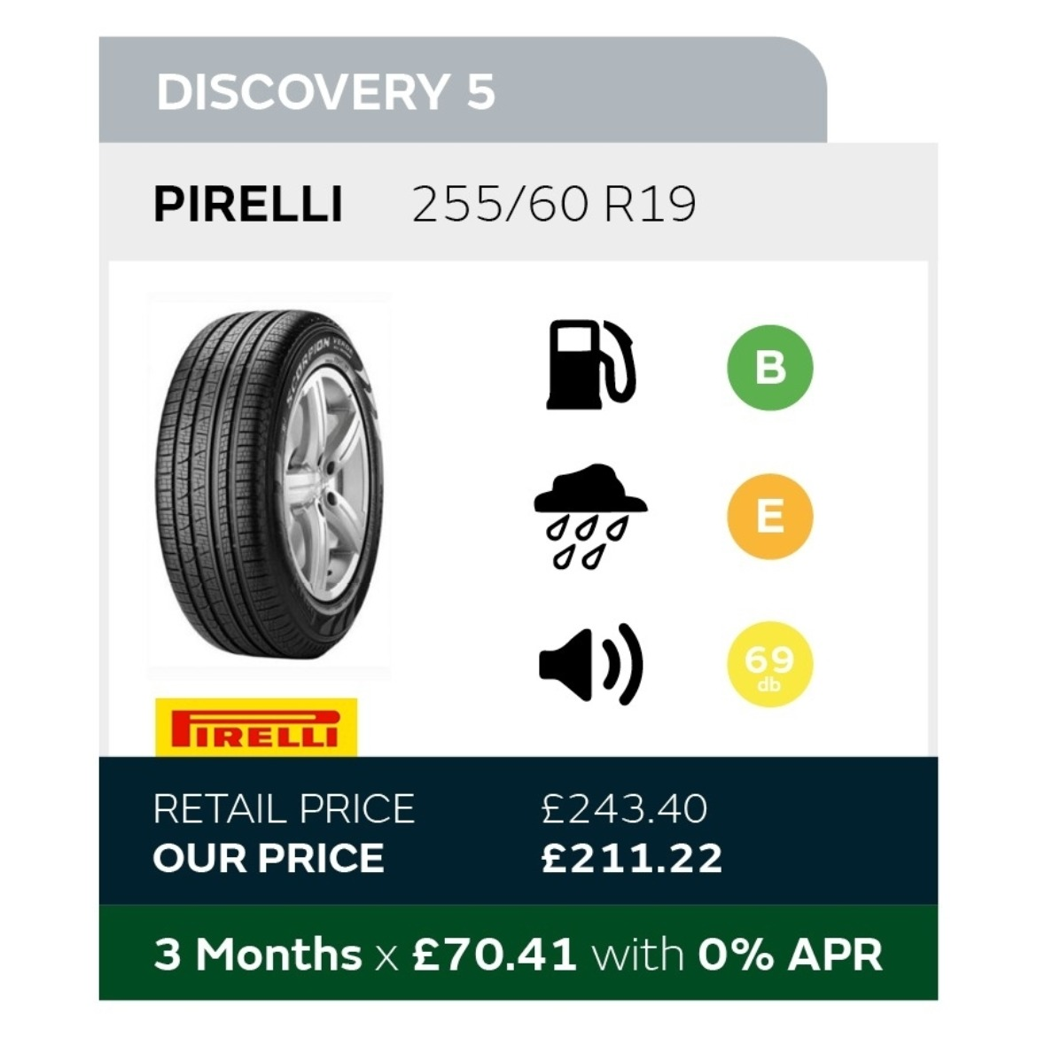 Discovery 5 Tyre Offer