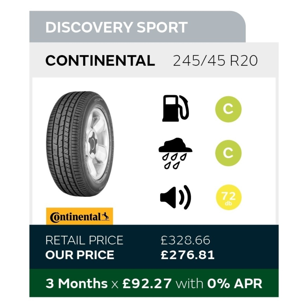 Discovery Sport Tyre Offer