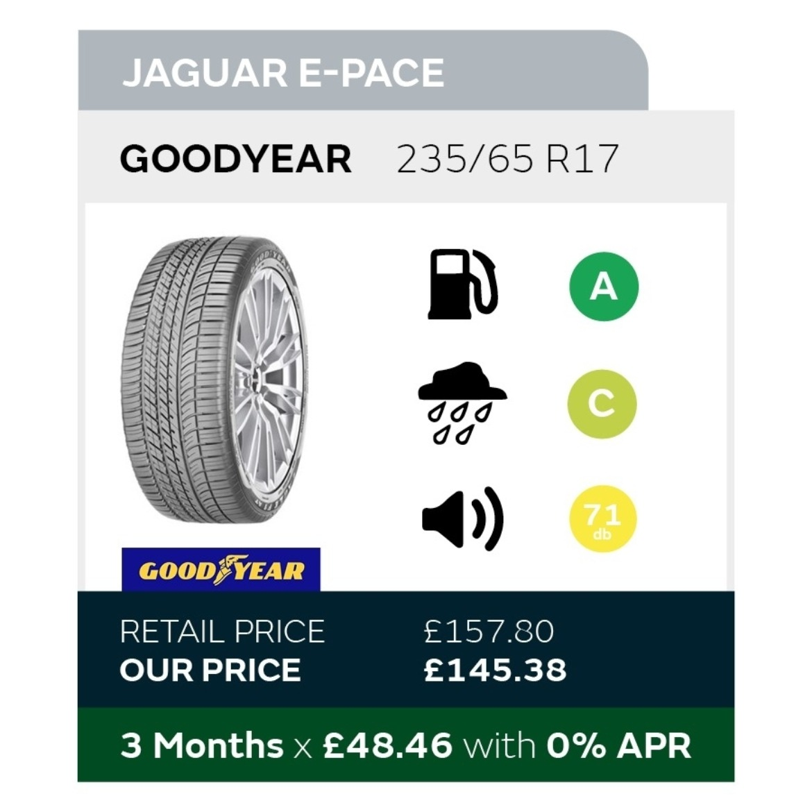 Jaguar E-Pace Tyre Offer